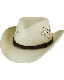 Eddy Bros. by Bailey Men's Mateo Diamond Vent Toyo Straw Western Hat, , hi-res