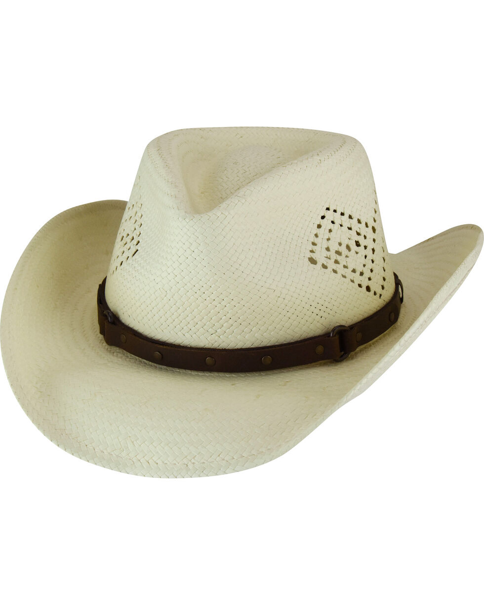 Eddy Bros. by Bailey Men's Mateo Diamond Vent Toyo Straw Western Hat, Natural, hi-res