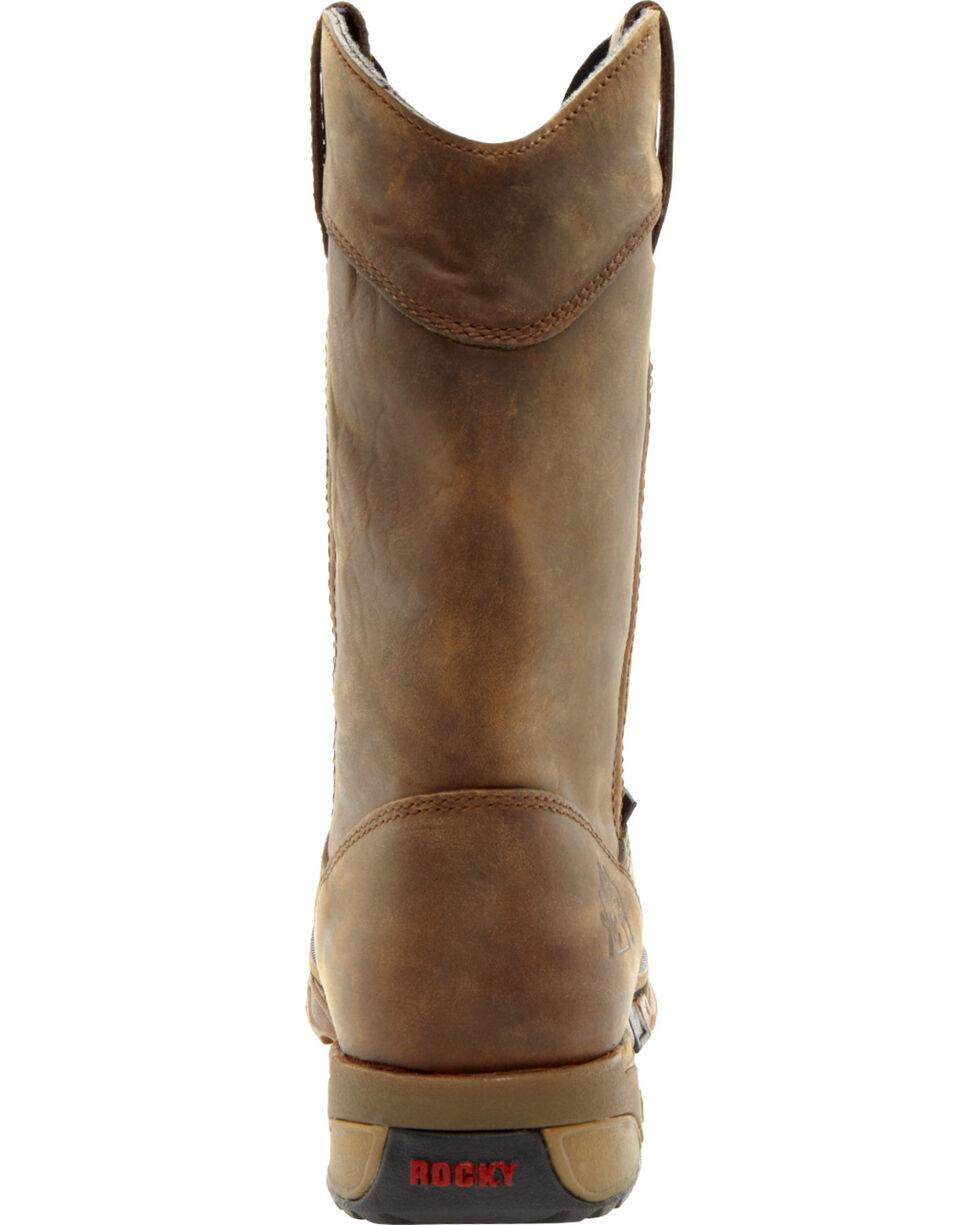 Rocky Men's Steel Toe Wellington Boots, Tan, hi-res
