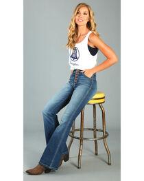Wrangler Women's Five Button High Waisted Flare Leg Jeans , , hi-res