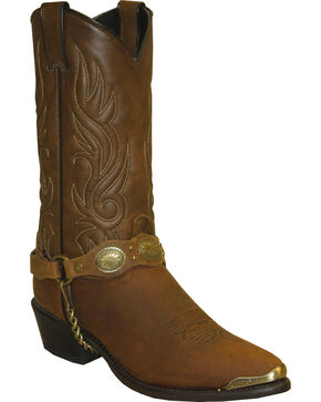Sage Boots by Abilene Men's Western Harness Boots, Brown, hi-res