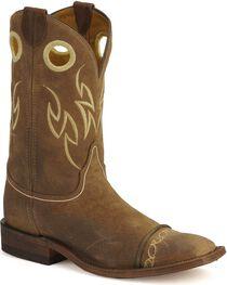 Justin Men's Bent Rail Collection Western Boots, Testa, hi-res