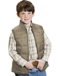 Roper Boys' Rangegear Quilted Nylon Vest, , hi-res
