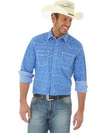 Wrangler 20X Men's Long Sleeve Floral Snap Button Shirt - Big and Tall, , hi-res