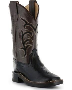 Cody James® Children's Broad Square Toe Western Boots, Black, hi-res