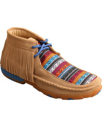 Twisted X Kids' Fringe Driving Moc Shoes, , hi-res