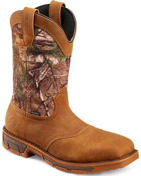 Red Wing Irish Setter Marshall Camo Waterproof Work Boots - Square Toe , Camouflage, hi-res