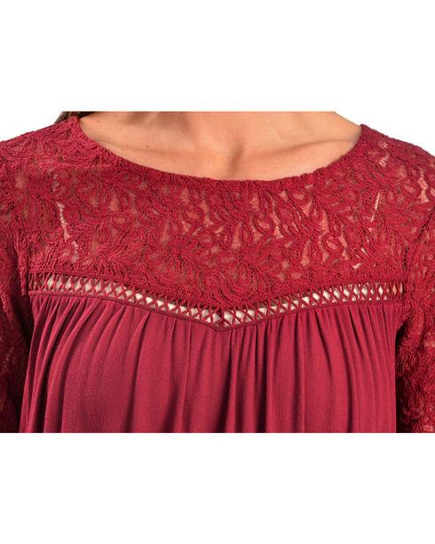 Black Swan Women's Genevieve Crochet Trim Top, Red, hi-res