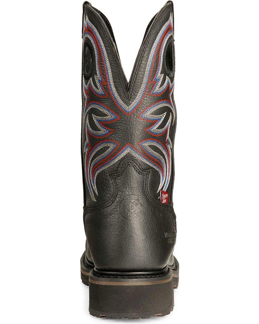Tony Lama Men's Signature H20 Steel Toe Western Work Boots, Black, hi-res