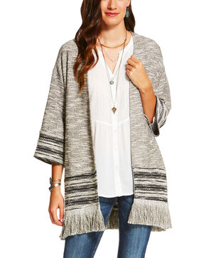 Ariat Women's Heather Grey Bella Cardigan , Grey, hi-res