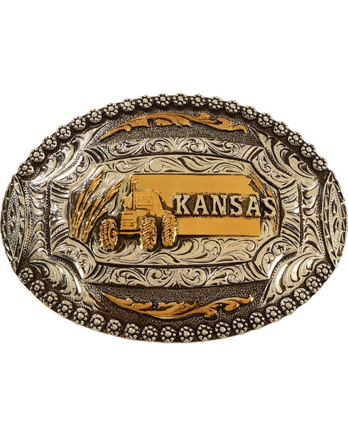 Cody James® Kansas Belt Buckle, Multi, hi-res