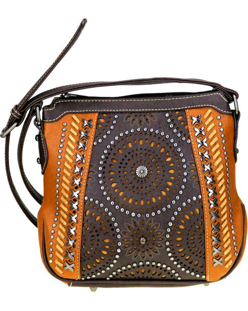 Montana West Women's Cut-Out Pattern Concealed Carry Crossbody Purse , , hi-res