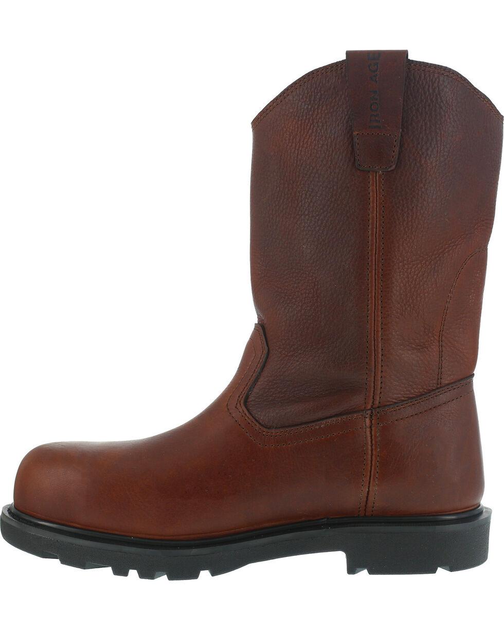 Iron Age Men's Hauler Composite Toe Wellington Work Boots, Brown, hi-res
