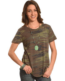 Z Supply Women's Camouflage Ultimate Camo Crew T-Shirt , , hi-res