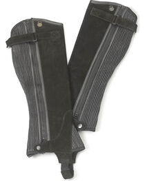 Ovation Women's Ribbed Suede Half Chaps, , hi-res