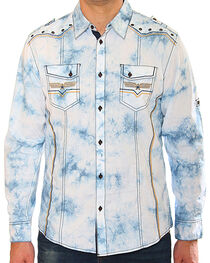 Austin Season Men's Long Sleeve Embroidered Button Down Shirt, , hi-res
