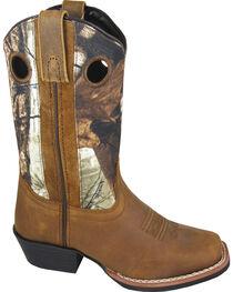 Smoky Mountain Youth Boys' Mesa Camo Western Boots - Square Toe, , hi-res
