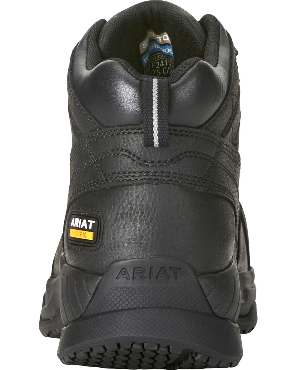 Ariat Men's Contender H2O Waterproof Work Boots - Soft Toe, Black, hi-res