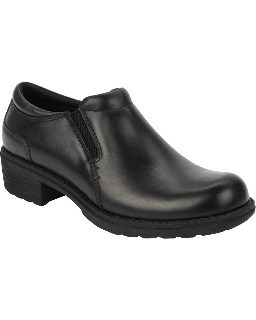 Eastland Women's Black Double Down Slip-Ons , Black, hi-res