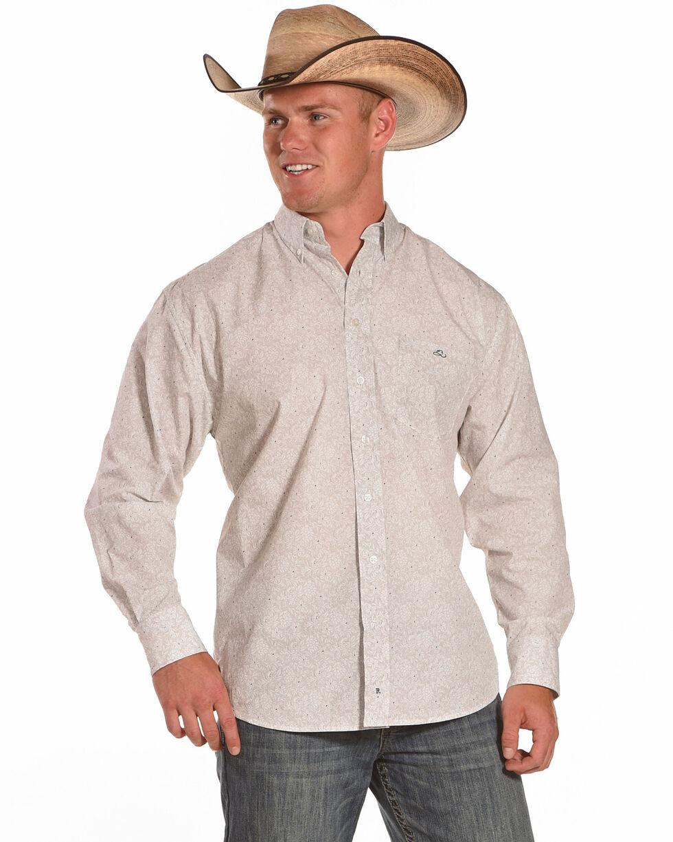 Resistol Men's Mayer Button Up Long Sleeve Shirt, Blue, hi-res