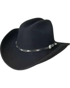 Silverado Cattleman Crushable Wool Cowboy Hat, Black, hi-res