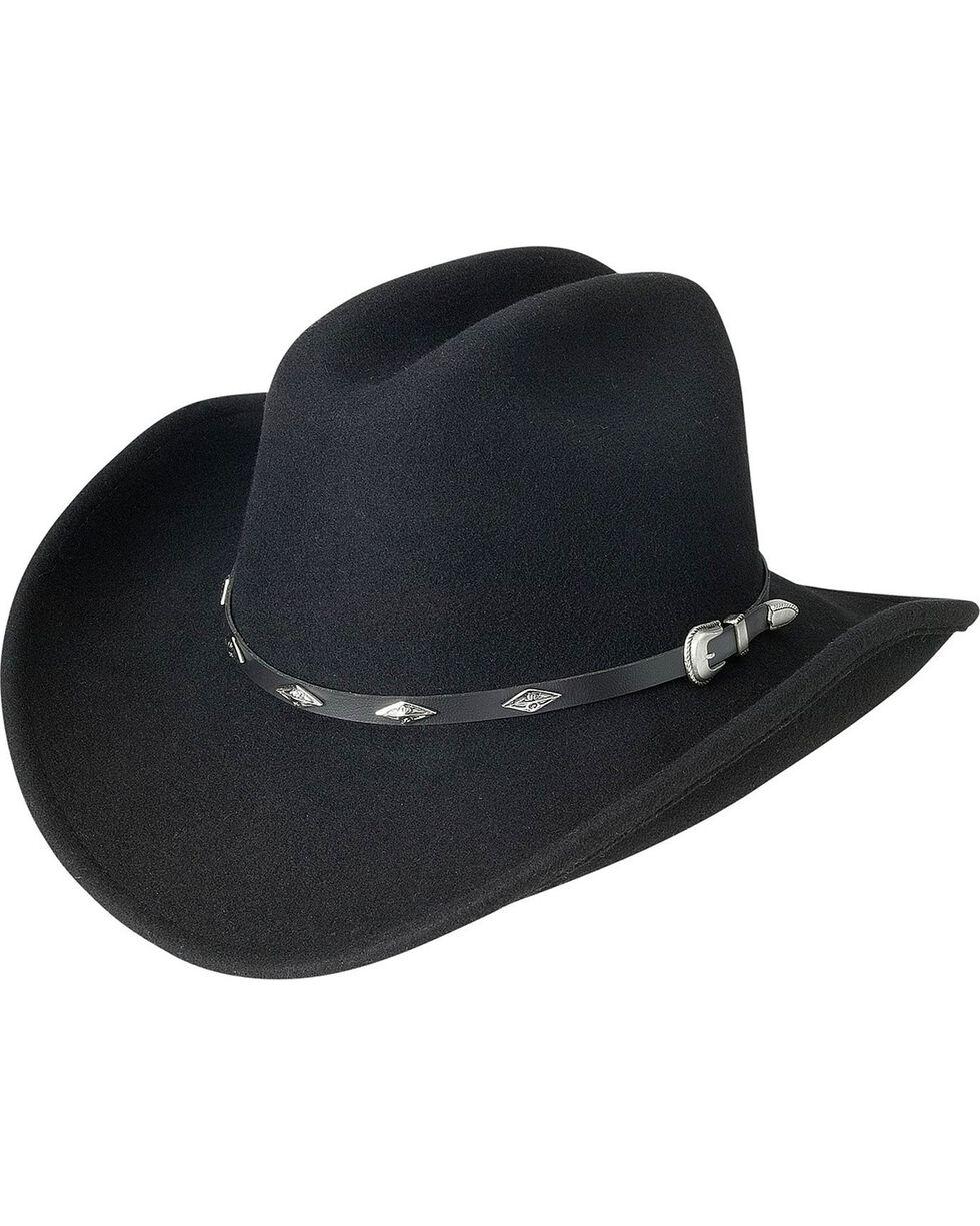 Silverado Cattleman Crushable Wool Cowboy Hat, Black, hi-res