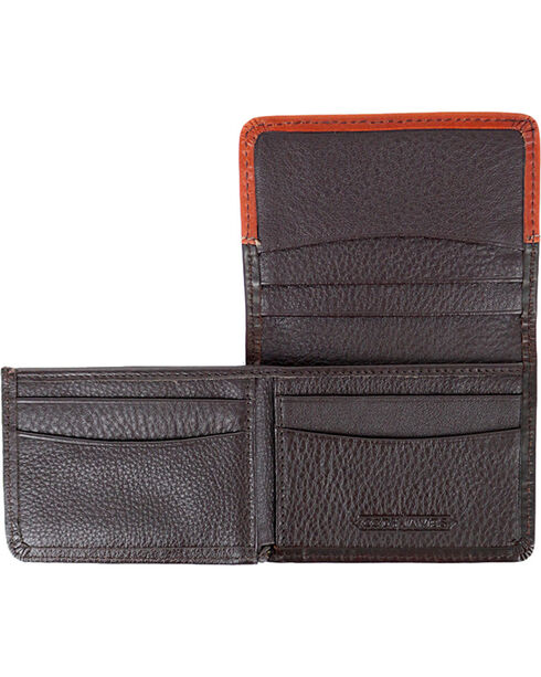 Cody James® Western Bi-Fold Leather Wallet, Brown, hi-res