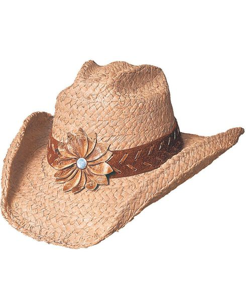 Bullhide Women's Sunset Straw Hat, Natural, hi-res