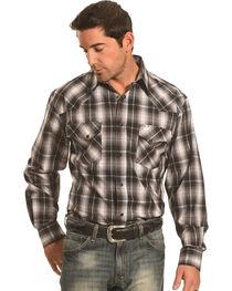 Crazy Cowboy Men's Black Plaid Western Snap Shirt , , hi-res
