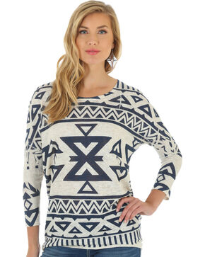 Wrangler Women's Knit Long Sleeve Top, Multi, hi-res