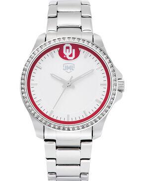 Jack Mason Women's Oklahoma Glitz Sport Watch , Silver, hi-res