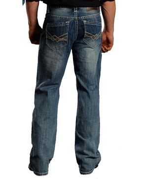 Rock & Roll Cowboy Men's Cannon Light Wash Jeans -  Boot Cut , Blue, hi-res