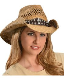 Bullhide Women's More Than Words Straw Hat, , hi-res