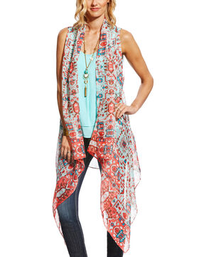 Ariat Women's Roaming Scarf Vest , Multi, hi-res