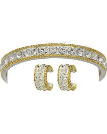 Montana Silversmiths Rhinestone Bracelet and Earring Set, , hi-res
