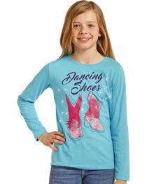 Rock & Roll Cowgirl Girls' Dancing Shoes Graphic Tee , , hi-res