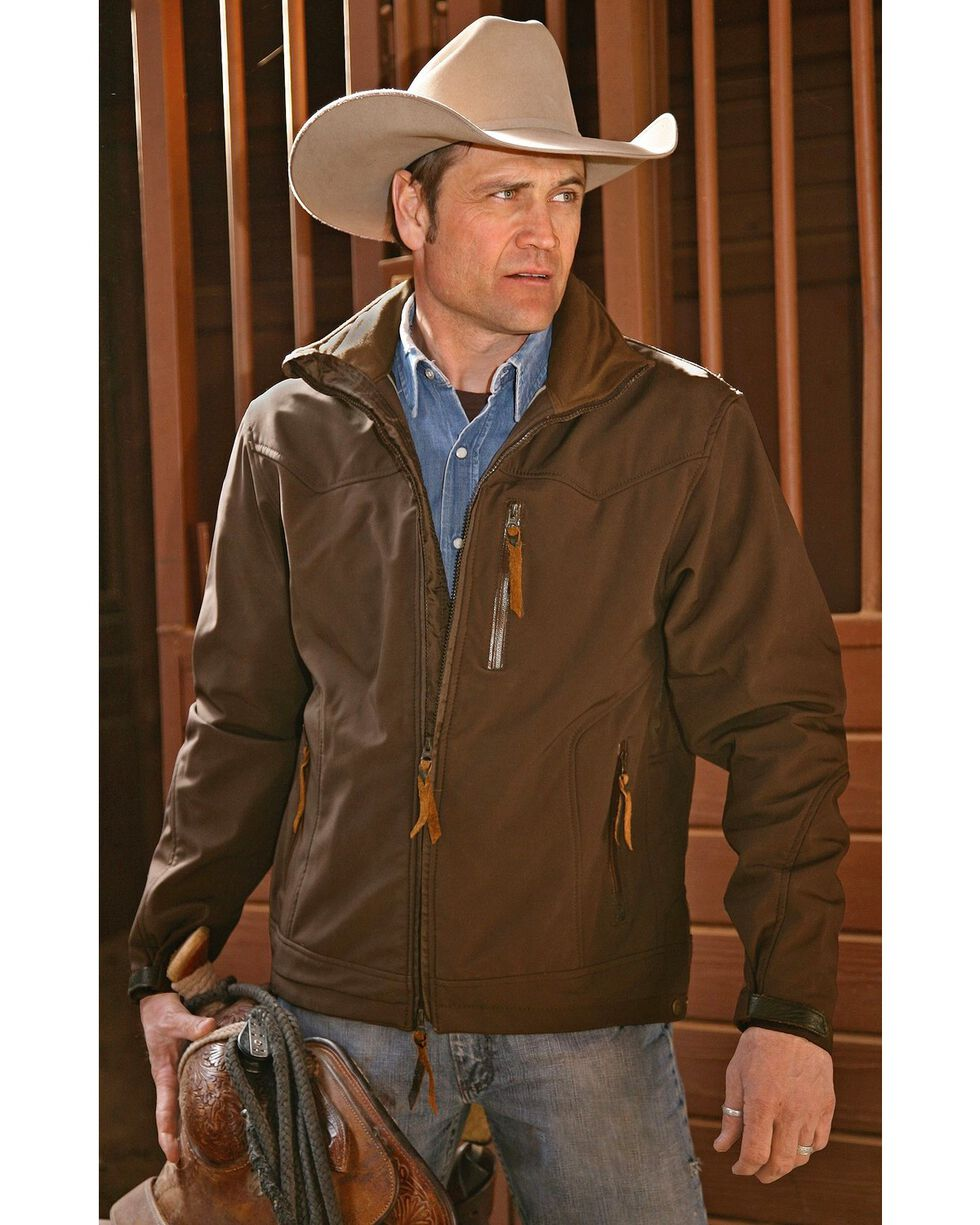 STS Ranchwear Men's Young Gun Brown Jacket - Big & Tall - 2XL-3XL, Brown, hi-res