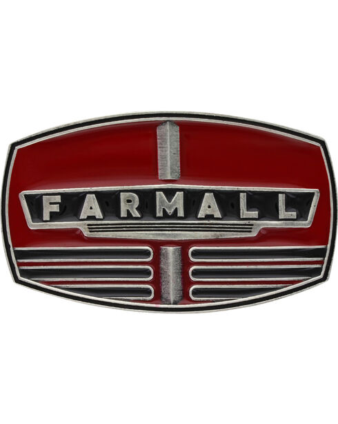 Montana Silversmiths Men's Case IH Farmall Red Grill Buckle , Red, hi-res