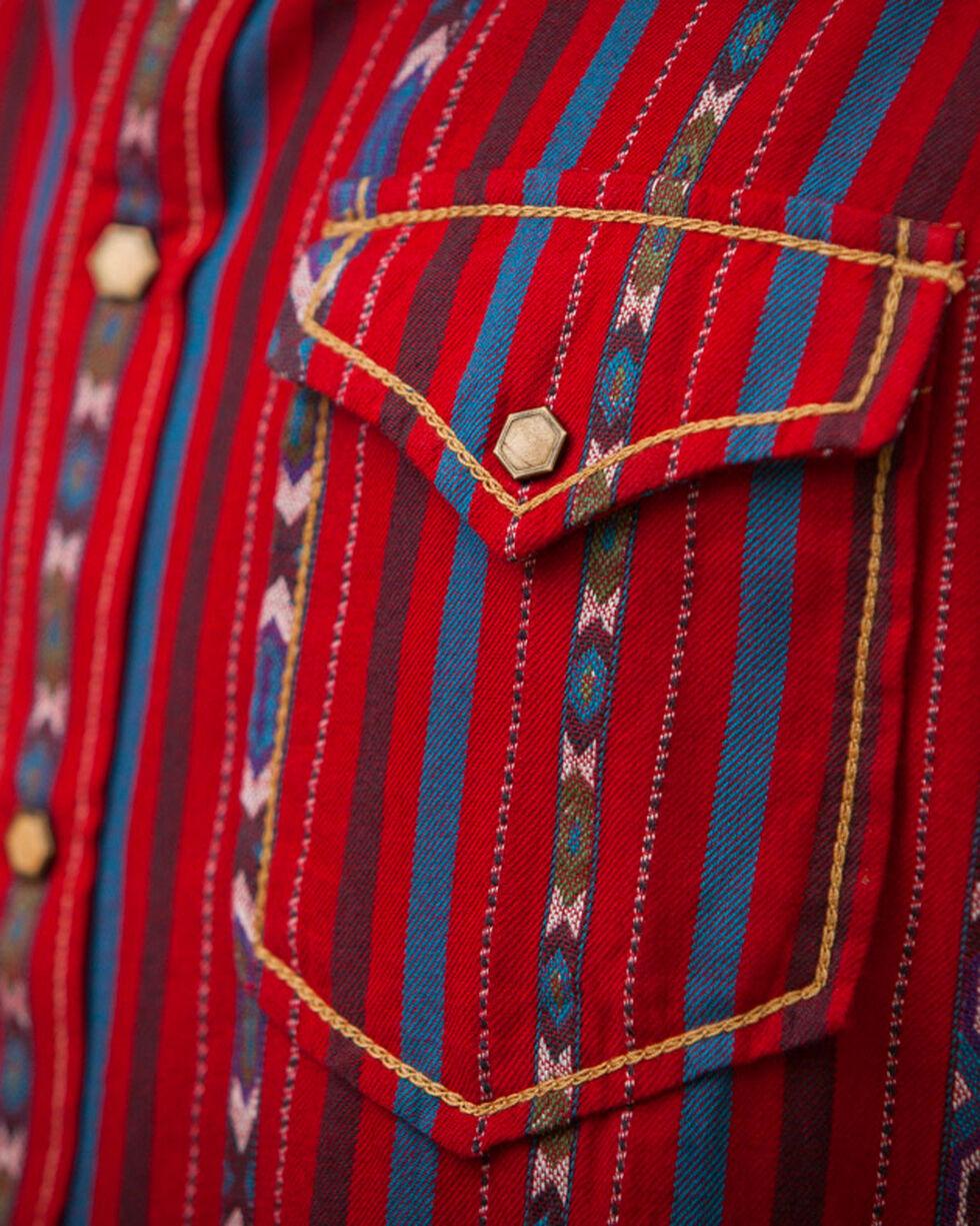 Ryan Michael Men's Cherry Navajo Stripe Jacquard Shirt, , hi-res
