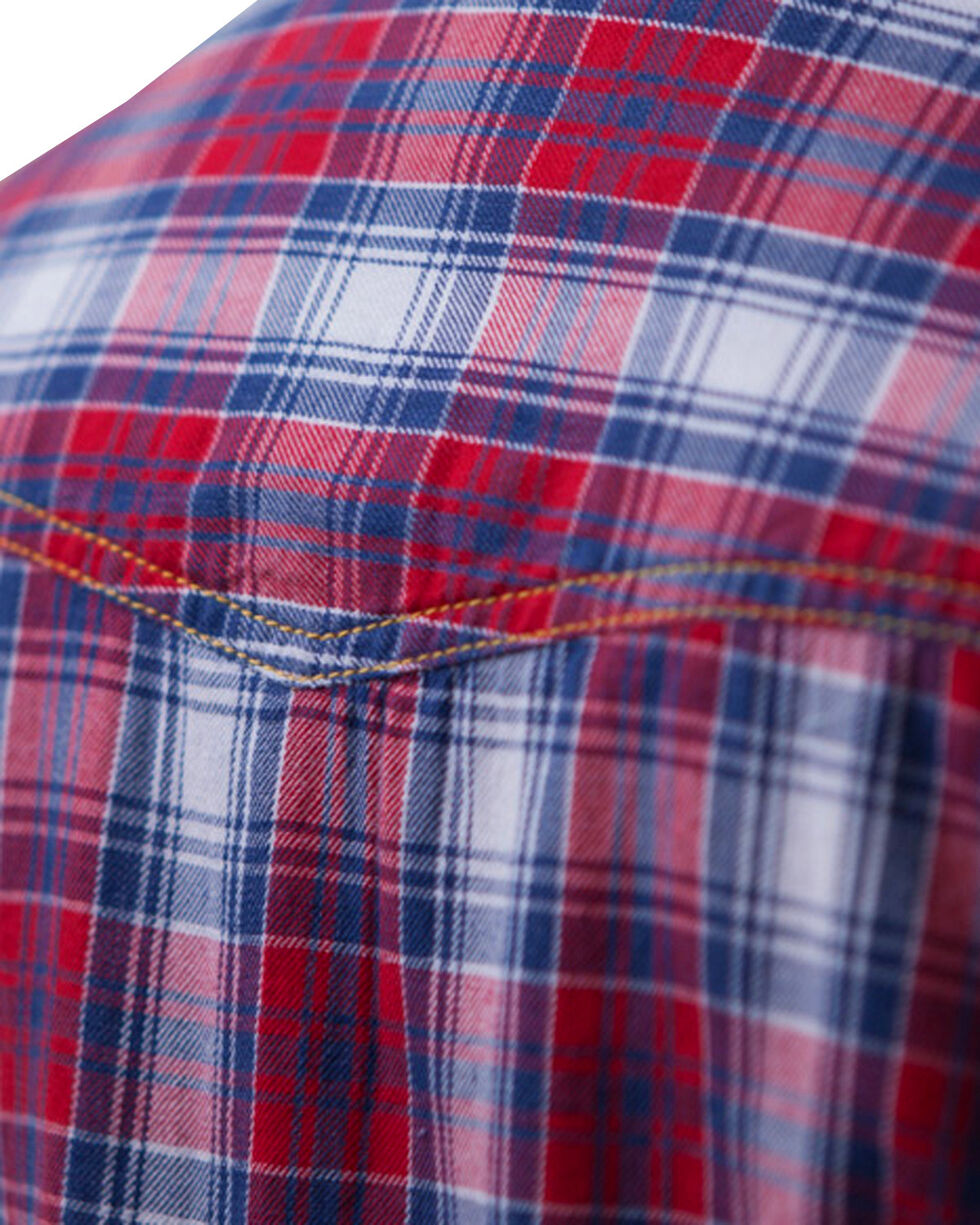 Barn Fly Women's Headdress Flannel Plaid Shirt, Red, hi-res