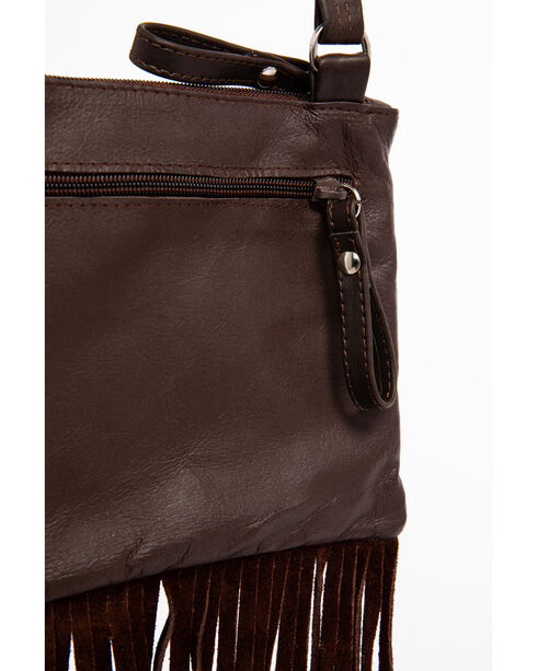 Shyanne® Women's Filigree and Fringe Crossbody Bag, Turquoise, hi-res