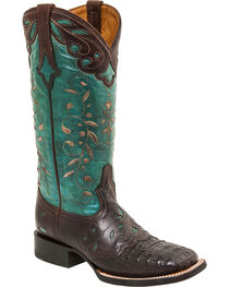 Lucchese Women's Sherilyn Caiman Exotic Boots, , hi-res