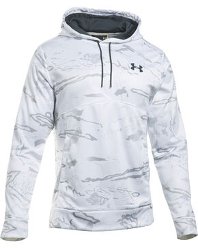 Under Armour Men's Storm Fleece Hoodie, White, hi-res