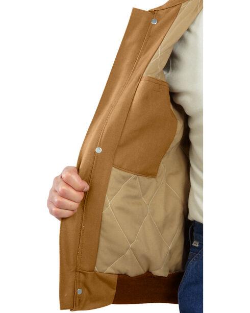Carhartt Men's Flame-Resistant Duck Bomber Jacket - Big & Tall, Carhartt Brown, hi-res