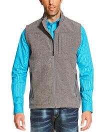 Ariat Men's Charcoal Logo Softshell Vest, , hi-res