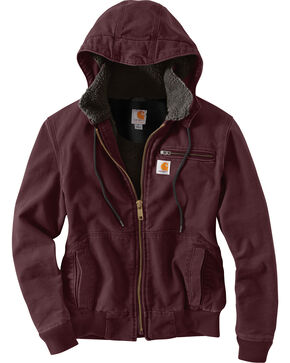 Carhartt Women's Deep Wine Weathered Wildwood Jacket , Wine, hi-res