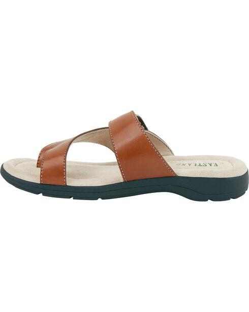 Eastland Women's Tan Tahiti II Thong Sandals  , Tan, hi-res
