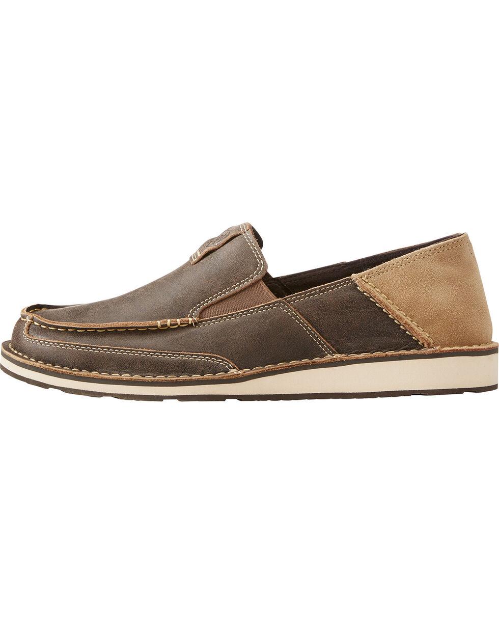 Ariat Men's Dark Brown Cruiser Vintage Bomber Sip-On Shoes , Dark Brown, hi-res