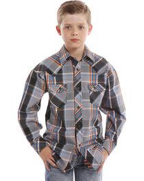 Rock & Roll Cowboy Boys' Saddle Stitch Shirt , , hi-res