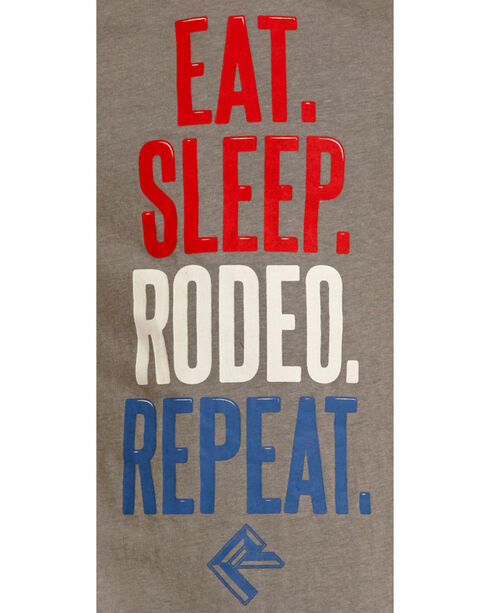 Panhandle Boys' Eat Sleep Rodeo T-Shirt, Grey, hi-res